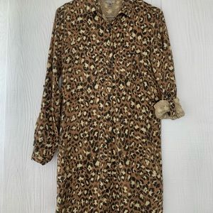 Urban Outfitter Leopard Long Sleeve Dress